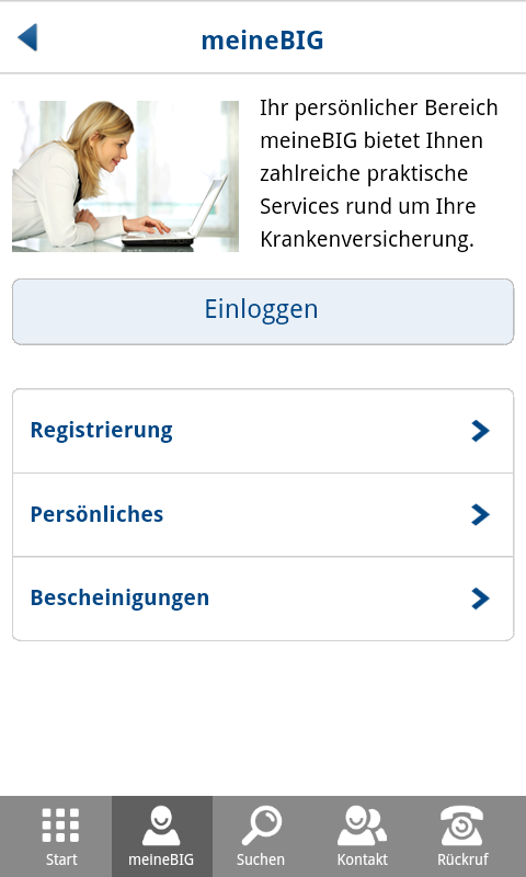 BIG direkt- screenshot