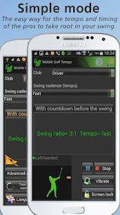 Mobile Golf Tempo Training Aid- screenshot thumbnail
