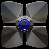 Next Launcher theme Blue Diamo