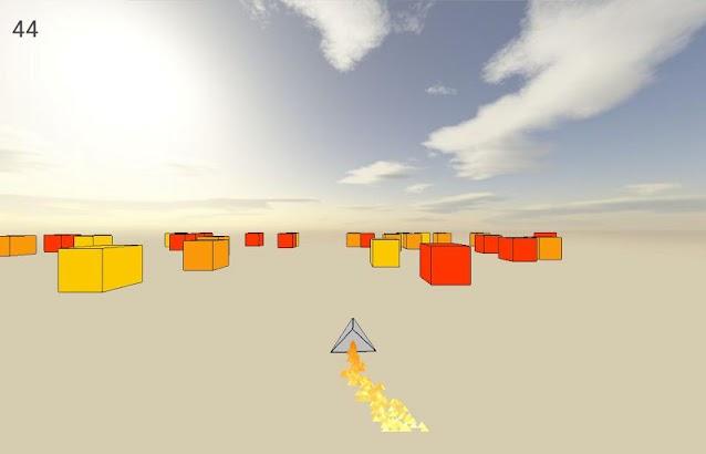 Cube Racer: A ship runner race- screenshot thumbnail