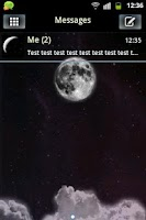 Screenshot of GO SMS Theme Night Moon