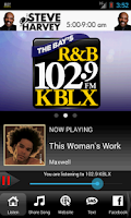 Screenshot of 102.9 KBLX