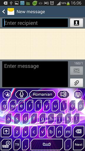 GOのキーボードの紫レーザー