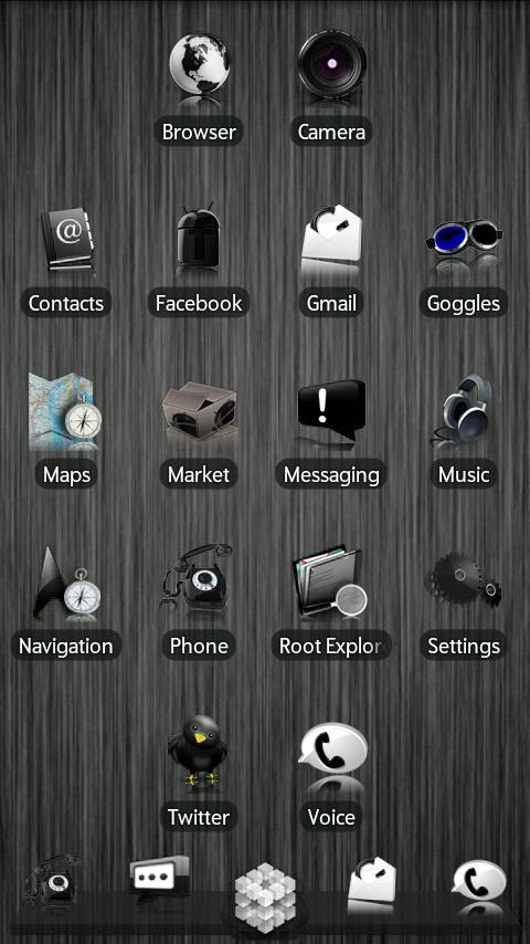 Black ADW Theme - screenshot
