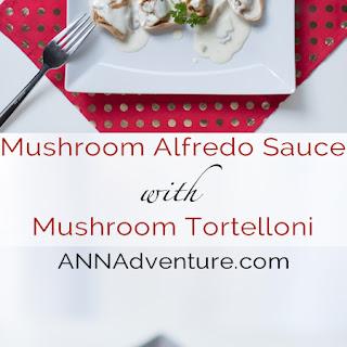 Mushroom Tortelloni with Mushroom Alfredo Sauce.