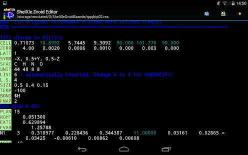 ShelXle.Droid- screenshot thumbnail