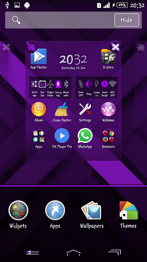 Xperien Full Purple X Theme - Android Apps on Google Play