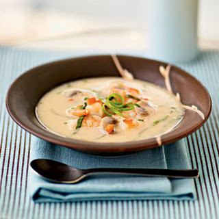 Spicy Coconut Shrimp Soup.