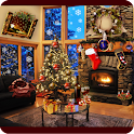 Christmas Fireplace LWP Full icon