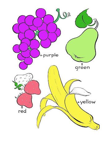 ระบายสีผลไม้