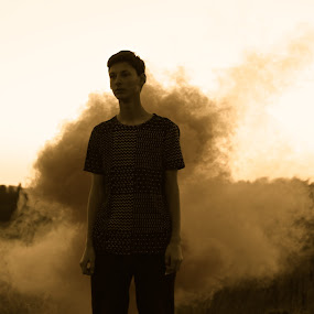 Smoke by Spencer Ziemer - People Portraits of Men ( renewal, green, trees, forests, nature, natural, scenic, relaxing, meditation, the mood factory, mood, emotions, jade, revive, inspirational, earthly )