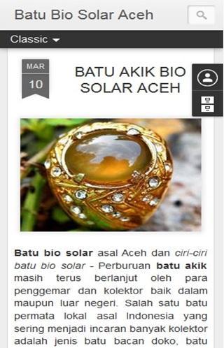 Batu Bio Solar Aceh
