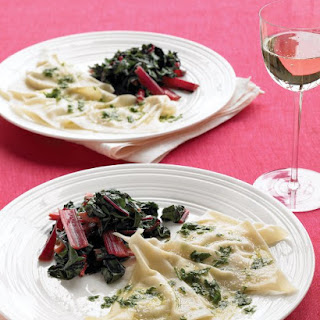 "Goat-Cheese ""Ravioli"" with Parsley Sauce"