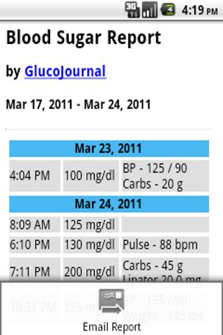 GlucoJournal - screenshot