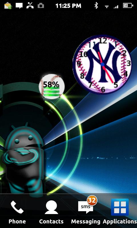 Baseball Battery Widget- screenshot