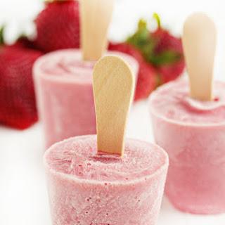 Strawberry-Ricotta Popsicles.