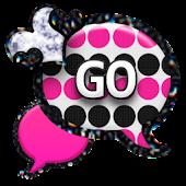GO SMS - Polka Dots Hearts