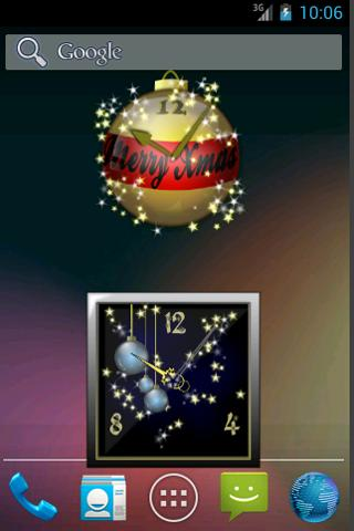 Christmas Clock Widgets - screenshot