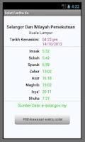 Screenshot of Panduan Solat Fardhu