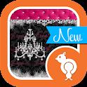 Damask & Pink Velvet Theme SMS icon