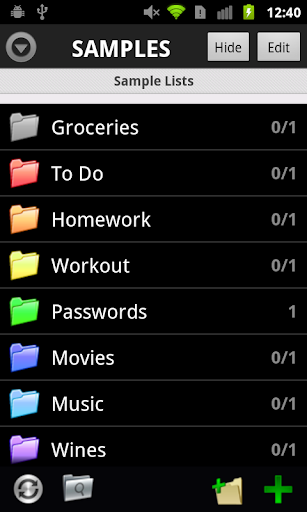 List Master Lite for Android