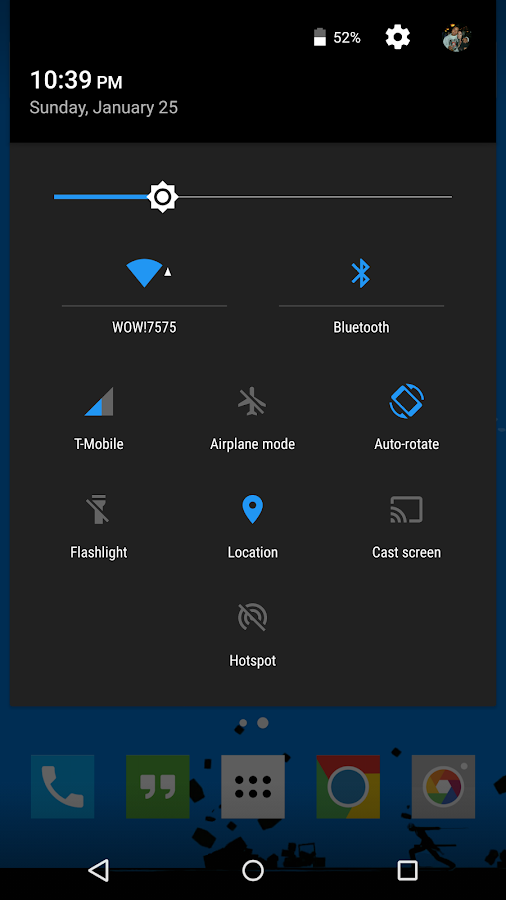 PiazzA Theme CM12- screenshot