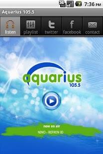 AQUARIUS FM 105.5 - μικρογραφία στιγμιότυπου οθόνης