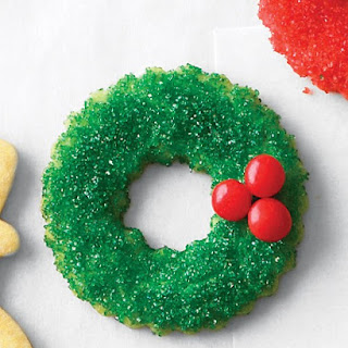 Sugared Wreath Cookies.