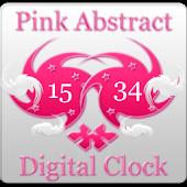 Pink Abstract Digital Clock
