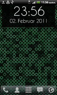 玩個人化App Grid Clock Live Wallpaper免費 APP試玩