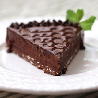 Healthy Quintuple-Chocolate Dark Chocolate Truffle Tart