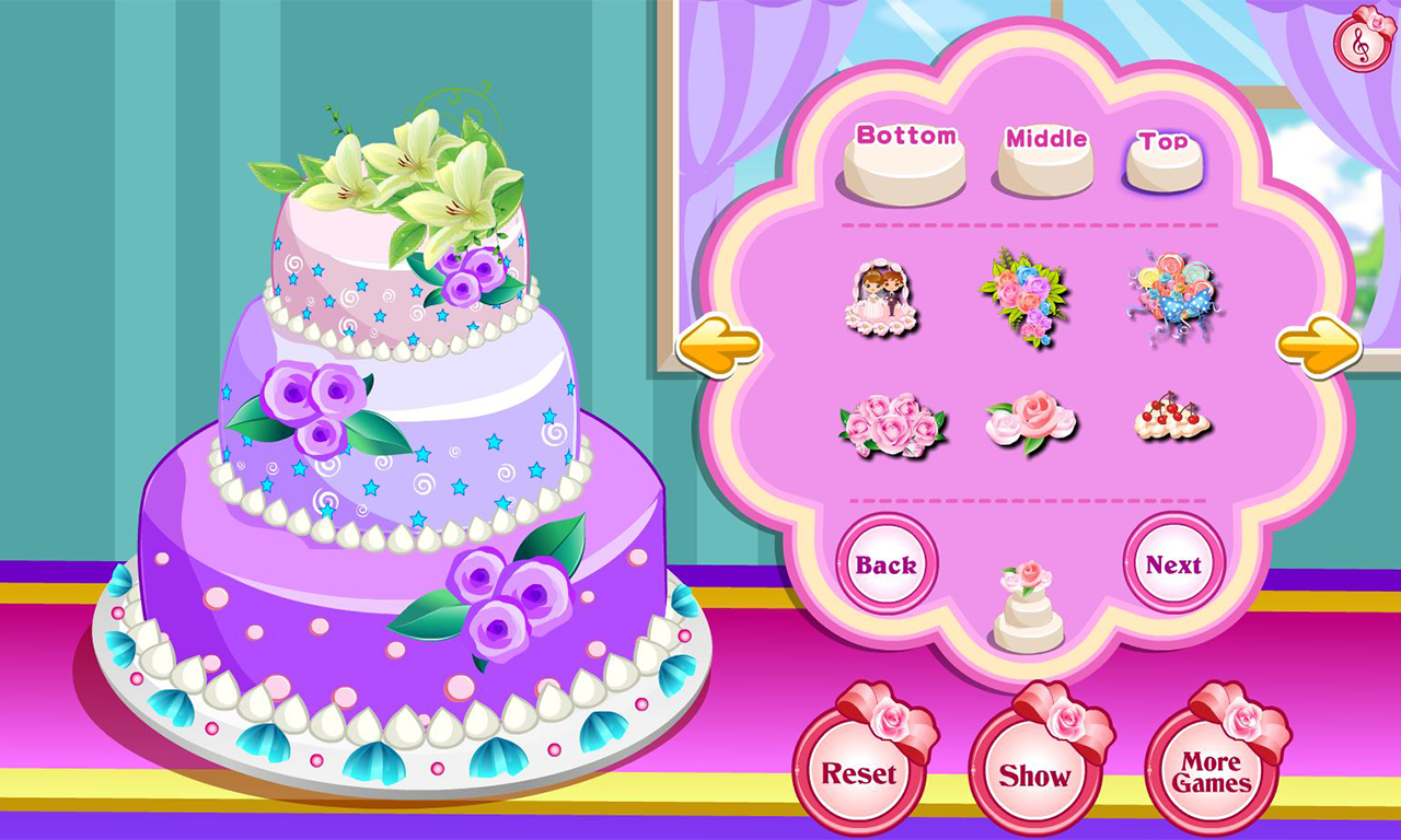 Rose Wedding Cake Game- screenshot