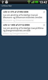 Lovtidende App- screenshot thumbnail