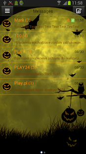 Theme Halloween for GO SMS Pro- screenshot thumbnail