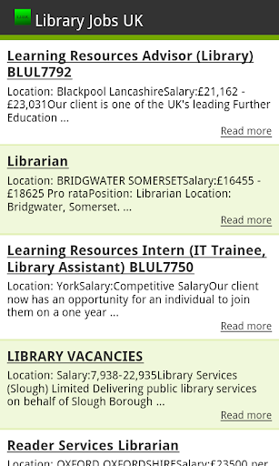 Library Jobs UK