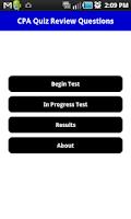 Screenshot of CPA Practice Exam