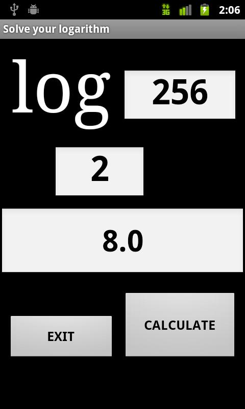 Logarithm Solve - screenshot