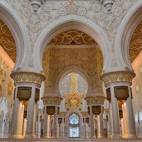 SZ Grand Masjid AUH 1 by Abid Malik - Buildings & Architecture Architectural Detail ( grand mosque, masjid, malixography, abu dhabi )