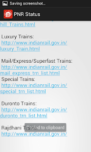 PNR Status - Indian Railway - screenshot thumbnail