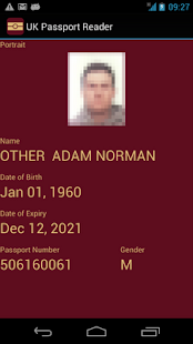 UK Passport Reader - screenshot thumbnail