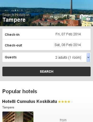 Tampere Hotel finder
