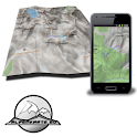 STUBAI ALPS mountain range map icon