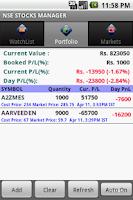 Screenshot of USA Stocks and Portfolio