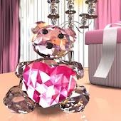 Crystal Bear LiveWall& Clock