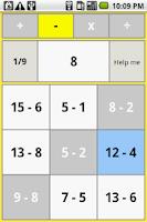 Screenshot of Reverse one digit arithmetic