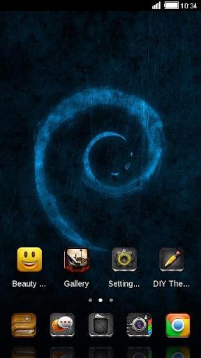 【免費個人化App】Blue Texture C Launcher Theme-APP點子