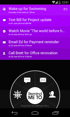 Remind Me - Quick Reminder App - screenshot