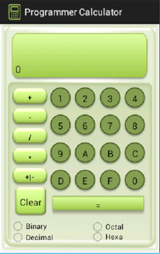 Programmer Calculator - screenshot
