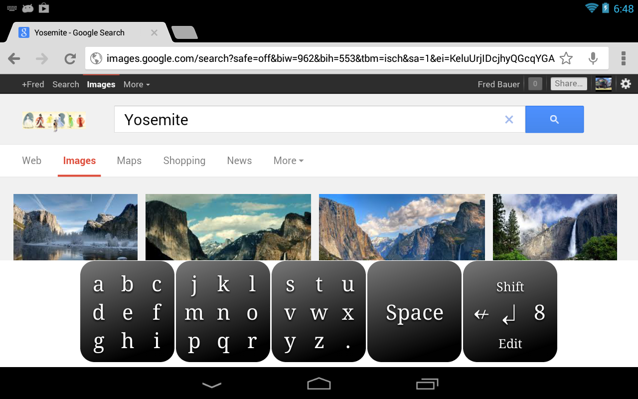 Bauer Keyboard- screenshot