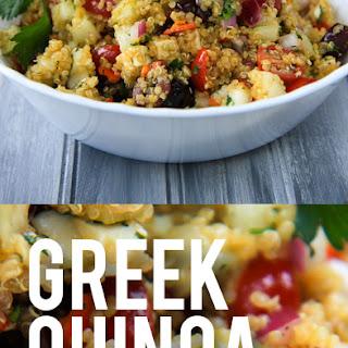 Cold Greek Quinoa Salad.